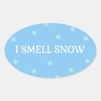 Der Schnee-Liebhaber Ovaler Aufkleber
