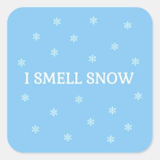 Der Schnee-Liebhaber Quadratischer Aufkleber