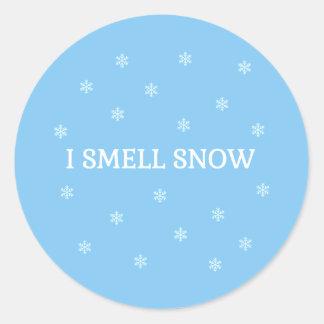Der Schnee-Liebhaber Runder Aufkleber