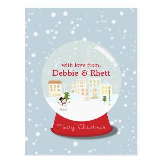 Der Schneeball mit dem Schnee Postkarte