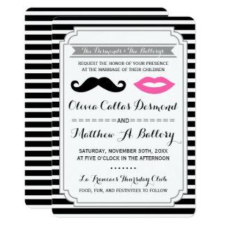 Der Schnurrbart u. rosa Lippen, die Thema-Streifen Karte