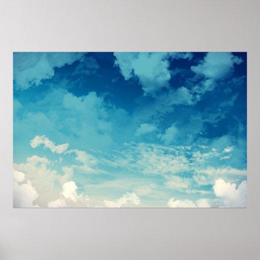 Der schöne Himmel… Wolken Poster