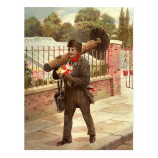 Der Schornsteinfeger Postkarte