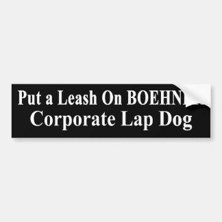 Der Schoss-Hund Öls Rückruf-Johns Boehner Koch Autoaufkleber