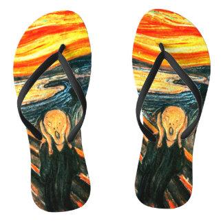 Der Schrei durch Edvard Munch Flip Flops