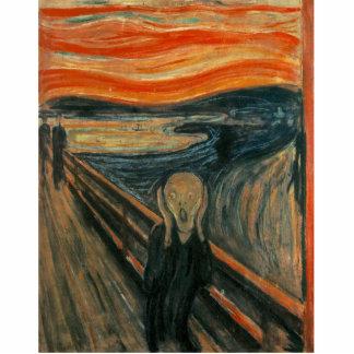 Der Schrei durch Edvard Munch Fotoskulptur Magnet