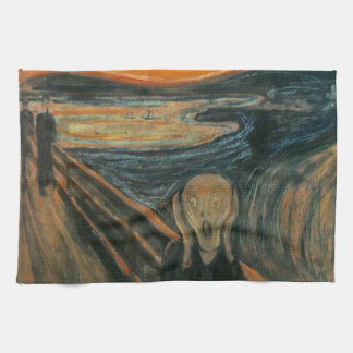 Der Schrei durch Edvard Munch Handtuch