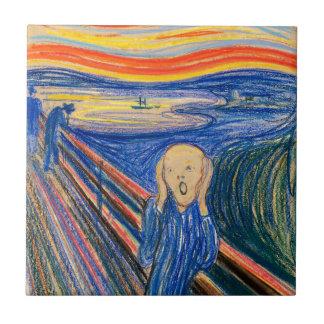 Der Schrei durch Edvard Munch (im Pastell) moderne Fliese