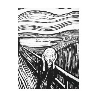 Der Schrei durch Edvard Munch Leinwanddruck