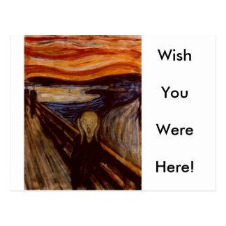 Der Schrei Postkarte