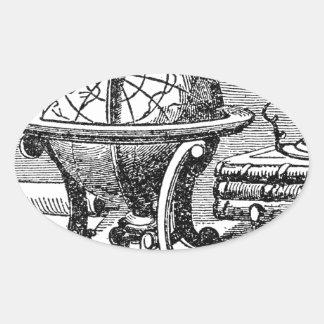 Der Schreibtisch des Mapmakers - Kugeln Ovaler Aufkleber