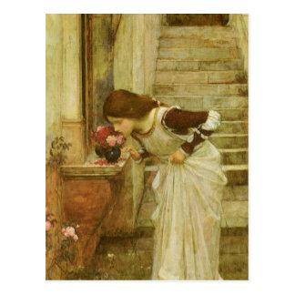 Der Schrein durch JW Waterhouse, Vintage Postkarte