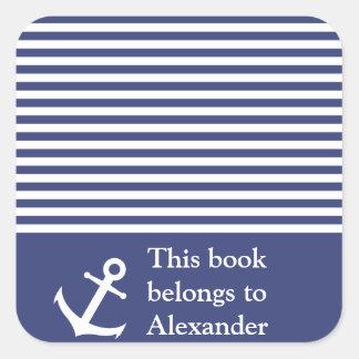 Der See individuelle Name dieses Buch gehört Quadratischer Aufkleber