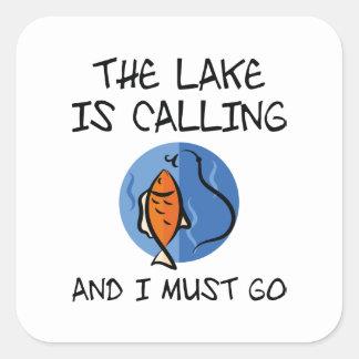 Der See nennt Quadratischer Aufkleber
