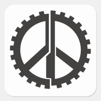 Der SEITE Friedensgang Quadratischer Aufkleber