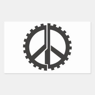 Der SEITE Friedensgang Rechteckiger Aufkleber