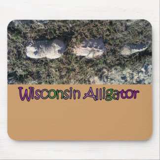 Der seltene Wisconsin-Alligator Mousepad