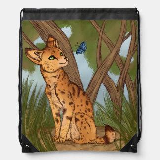 Der Serval und der Schmetterling Turnbeutel