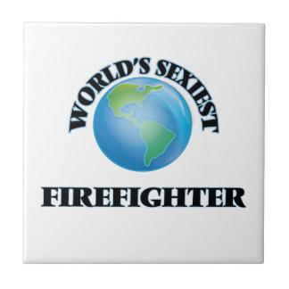 Der sexyste Feuerwehrmann der Welt Kleine Quadratische Fliese