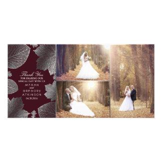 Der silberne Herbstlaub, der Foto Wedding ist, Foto Karten