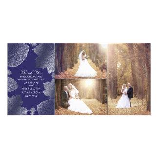 Der silberne Herbstlaub, der Foto Wedding ist, Photogrußkarten