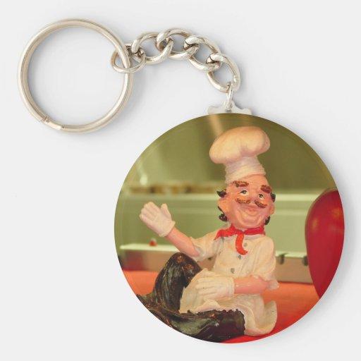 Der sitzende Koch Schlüsselanhänger