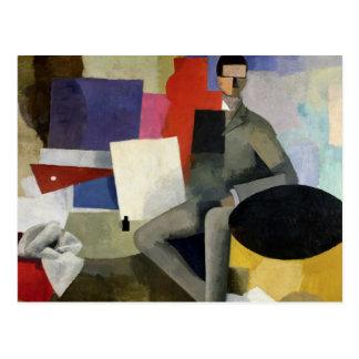 Der Sitzmann oder der Architekt Postkarte