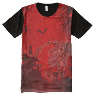 Der skeleton Skater ganz über Druckplatten-T - T-Shirt Mit Komplett Bedruckbarer Vorderseite