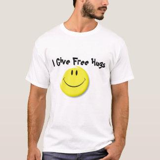 Der Smiley (flach), gebe ich freie Umarmungen T-Shirt