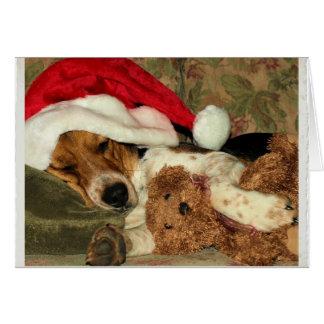 Der Snoopy Beagle-Hund Schlafenssankt - danke Karte
