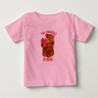 Der Snuggle ist wirklicher Bär mit Herzen Baby T-shirt