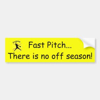 Der Softball-Autoaufkleber Fastpitch Mädchens