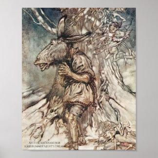 Der Sommernachtstraum Arthur Rackham der Poster