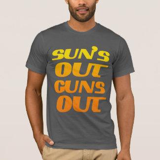 DER SONNE HERAUS SCHIESST HERAUS FITNESS UND T-Shirt