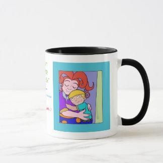 Der Sonntags-Frühstücks-Greif der Mammas, Mamma u. Tasse
