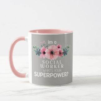 Der Sozialarbeiter der schönen Blume Tasse