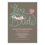 Der Spaß, der rosa Brown-Brautparty beschriftet, Personalisierte Einladungen