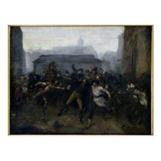 Der Spion, Episode der Belagerung von Paris, 1871 Postkarte
