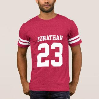 Der Sport-Jersey-T - Shirt der Name-Zahl-Männer