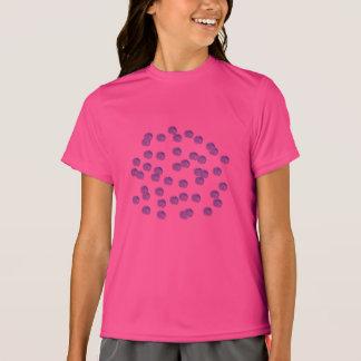Der Sport-T - Shirt der blauen Polka-Punkt-Mädchen