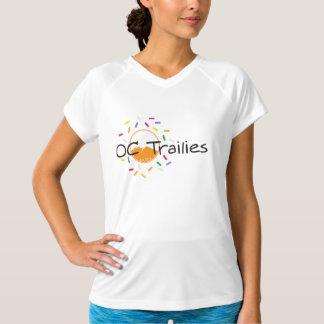Der Sport-Tek der Frauen angepasster orange Traum T-Shirt