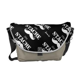 Der Stache Schnurrbart-Retro Hipster Kurier Tasche