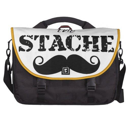 Der Stache Schnurrbart-Retro Hipster Laptoptaschen