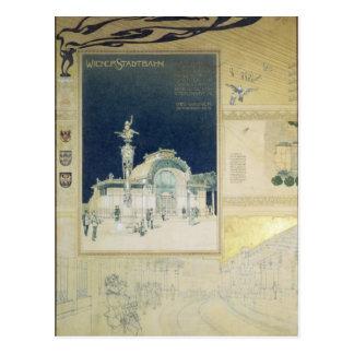 Der Stadtbahn Pavillon des Wiens Postkarten