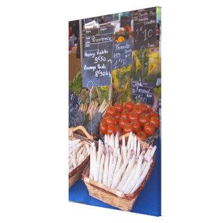 Der Stall des Straßenmarkt-Kaufmannes mit Weiß Galerie Gefaltete Leinwand