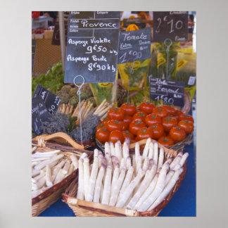 Der Stall des Straßenmarkt-Kaufmannes mit Weiß Plakatdrucke