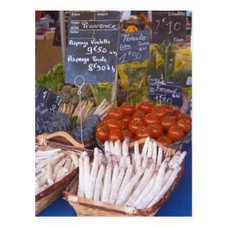 Der Stall des Straßenmarkt-Kaufmannes mit Weiß Postkarte