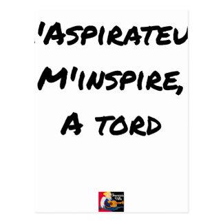 Der STAUBSAUGER ME LEITET ZU UNRECHT - Wortspiele Postkarte