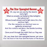 Der Stern Spangled Fahnenplakat Posterdruck