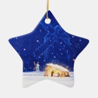 Der Stern von Bethlehem u. von DON QUICHOTE Keramik Stern-Ornament